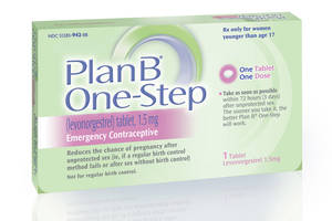 """Photo - This undated image made available by Teva Women's Health shows the packaging for their Plan B One-Step (levonorgestrel) tablet, one of the brands known as the """"morning-after pill.""""  In a scathing rebuke of the Obama administration, a federal judge ruled Friday that age restrictions on over-the-counter sales of the morning-after pill are """"arbitrary, capricious and unreasonable"""" and must end within 30 days. The ruling by U.S. District Judge Edward Korman of New York means consumers of any age could buy emergency contraception without a prescription _ instead of women first having to prove they're 17 or older, as they do today. And it could allow Plan B One-Step to move out from behind pharmacy counters to the store counters.  (AP Photo/Teva Women's Health)"""