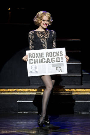 "Photo - In this undated publicity photo provided by The Publicity Office, Amy Spanger will star as Roxie Hart when the Broadway musical hit ""CHICAGO"" plays its record-breaking 6,681st performance at the Ambassador Theatre on Thursday, Dec. 20, 2012, in New York. (AP Photo/The Publicity Office, Jeremy Daniel)"