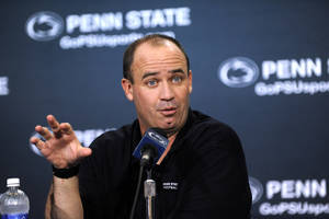 Photo - Penn State NCAA college football head coach Bill O'Brien speaks during his weekly press conference, Tuesday, Sept. 10, 2013, in State College, Pa. (AP Photo/Centre Daily Times, Nabil K. Mark) MANDATORY CREDIT MAGS OUT