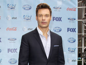 "Photo - This image released by Starpix shows Ryan Seacrest during a news conference for ""American Idol"", Friday, March 1, 2013, to kick of the ""Idol Across America,"" a promotion in New York. (AP Photo/Starpix, Kristina Bumphrey)"
