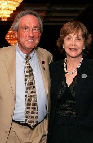 photo - Eddie and Patsy Sutton arrive at the after party for the Centennial Spectacular concert at the Ford Center Friday, Nov. 16, 2007. By David Faytinger, for The Oklahoman.