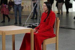 Marina Abramovic in &quot;The Artist Is Present.&quot;