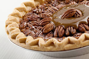 Photo - This Thanksgiving dessert is a Field's pecan pie with a caramel topping made of Oklahoma products <strong> - PROVIDED</strong>