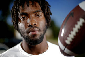 photo - High school football player D.J. Ward poses for a photo at his Lawton, Okla., home on Thursday, July 19, 2012. Photo by Bryan Terry, The Oklahoman