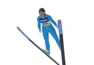 Photo - Lindsey Van from the US jumps during the Ski Jumping  Ladies World Cup  in Hinterzarten, Germany, Saturday, Dec. 21, 2013. (AP Photo/Daniel Maurer)