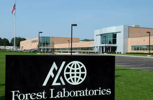Photo - FILE - The Commack, N.Y., branch of Forest Laboratories, a Manhattan-based pharmaceutical company, is seen in this Aug. 4, 2004, file photo. Actavis PLC plans to buy Forest Laboratories Inc. in an approximately $25 billion cash-and-stock combination that will create a drugmaker with a product portfolio that includes drugs like the Alzheimer's disease treatment Namenda. (AP Photo/Newsday, Jim Peppler, File)