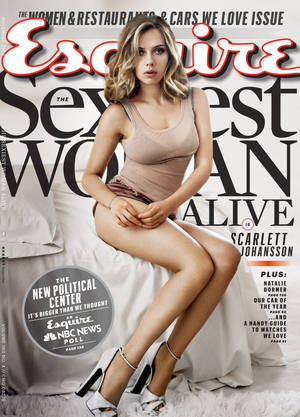 Photo - This cover image provided by Esquire magazine shows actress Scarlett Johansson on the cover of the November 2013 issue. The magazine hits newsstands on Oct. 15. Johansson has earned the title of Esquire magazine's sexiest woman alive, for a second time. She also won in 2006. (AP Photo/Esquire)