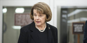 Photo - UNITED STATES - September 24: Sen. Dianne Feinstein, D-CA., arrives at Senate policy luncheons through the Senate subway in the U.S. Capitol on September 24, 2013.  (Photo By Douglas Graham/CQ Roll Call)