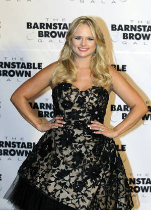 Photo -   Miranda Lambert arrives at the Barnstable Brown Derby party Friday, May 4, 2012, in Louisville, Ky. The 138th Kentucky Derby will be held Saturday, May 5. (AP Photo/Darron Cummings)