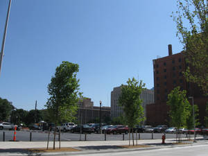 Photo - This surface parking lot along Main Street west of Hudson Avenue is scheduled for a 700-space, seven-story garage that will be built in 2013. Photo by Steve Lackmeyer, The Oklahoman