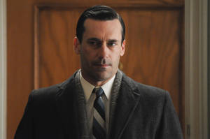 "Photo -   This publicity image released by AMC shows Jon Hamm as Don Draper in a scene from the finale of ""Mad Men."" The popular drama ended its fifth season on Sunday, June 10, 2012. (AP Photo/AMC, Michael Yarish)"