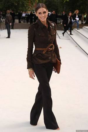 Photo - Socialite and former reality TV star Olivia Palermo at the Burberry spring-summer 2013 women's wear show during London Fashion Week.