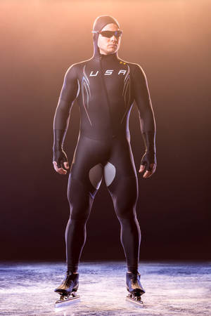 Photo - This undated image provided by Under Armour shows the  Mach 39 suit for the U.S Olympic speedskating team. The U.S. speedskating team blamed its poor performance at the games at least in part on their Mach 39 suits that were developed by Under Armour and touted as the world's fastest speedskating suits. (AP Photo/Under Armour)