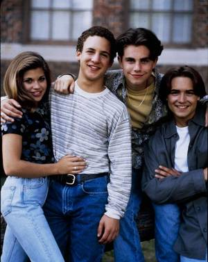 Photo - BOY MEETS WORLD - season 2. Shoot date Jan. 7, 1995. Danielle Fishel, Ben Savage, Rider Strong, Will Friedle (Photo by ABC Photo Archives/ABC via Getty Images) DANIELLE FISHEL;BEN SAVAGE;RIDER STRONG;WILL FRIEDLE