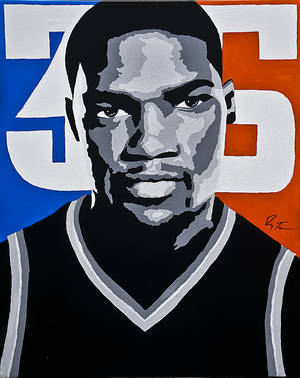 Photo - Kevin Durant's fearlessness in taking last-second shots is known throughout the league. In a poll of general managers, 46.7 percent said they would want Durant taking the last shot with a game on the line.Art by Ray Tennyson/photo by chris landsberger