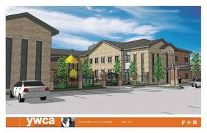 Photo - The YWCA's proposed emergency shelter, pictured in an architectural drawing here, received a $1.5 million grant from the Inasmuch Foundation.  Drawing PROVIDED