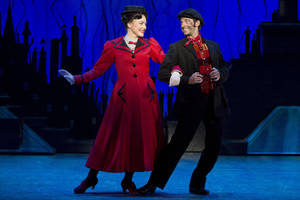 Photo - Mary Poppins (Madeline Trumble) and Bert (Con O'Shea-Creal) share a charming moment in the Tony Award-winning musical.   Photo by Jeremy Daniel <strong>Photo by Jeremy Daniel</strong>