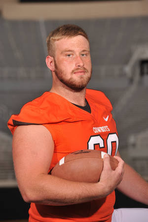 Photo - Evan Epstein, Oklahoma State University (OSU) college football player     Photo from The Oklahoman Archives