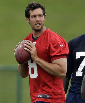 Photo - Former OU and Putnam City North quarterback Sam Bradford is on schedule to recover from left knee surgery five months ago.                    AP photo