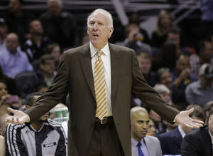 Photo -  San Antonio coach Gregg Popovich has to wonder if Oklahoma City just has his team's number this season.  AP Photo  <strong>Eric Gay -  AP </strong>