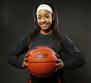 Photo - OSU women's basketball player Tiffany Bias (3) during media day for Oklahoma State University basketball at Gallagher-Iba Arena in Stillwater, Okla., Monday, Oct. 14, 2013. Photo by Nate Billings, The Oklahoman