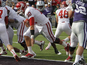 Photo - Nearly a year ago, Oklahoma debuted the Belldozer against Kansas State. This Saturday, the Sooners take on Kansas State in Norman.  PHOTO BY CHRIS LANDSBERGER, Oklahoma Archives