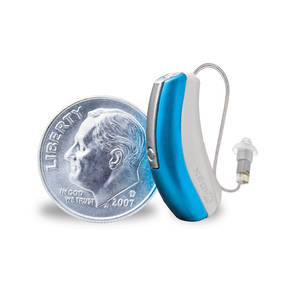 Photo - This Widex hearing aid is barely larger than a dime. Modern designs are unobtrusive and powerful.  PHOTO PROVIDED BY WIDEXUSA