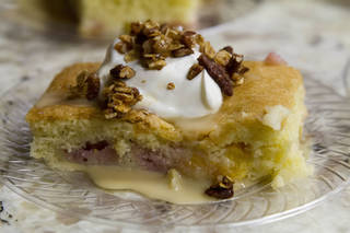 The surprise of the night came from chef Josh Valentine, who prepared a peach crisp with homemade whipped cream and pecans. CHRIS JAMES - THE OKLAHOMAN