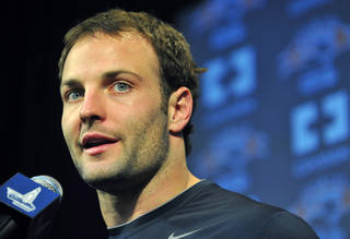 New England Patriots wide receiver Wes Welker talks to the media about being selected to represent the New England Patriots and the AFC in the 2010 Pro Bowl during a news conference at the NFL football team's facility in Foxborough, Mass., on Wednesday, Dec. 30, 2009. (AP Photo/Gretchen Ertl)