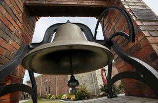 The original bell purchased for the Methodist Episcopal Church formed in August 1892 in Choctaw City was retored as part of an Eagle Scout project and is displayed in front of the Choctaw United Methodist Church. Jim Beckel