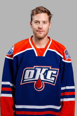 OKLAHOMA CITY BARONS / AHL HOCKEY PLAYER / MUG: Linus Omark, OKC Barons Individuals 2013-14 Season PHOTO BY STEVEN CHRISTY, OKLAHOMA CITY BARONS ORG XMIT: SCP40089