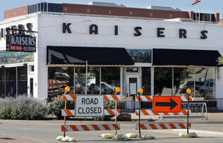 Road construction related to a $53 million expansion of St. Anthony Hospital is being cited in the closing of Kaiser's American Bistro at NW 10 and Walker Avenue. Photo by Paul B. Southerland, The Oklahoman