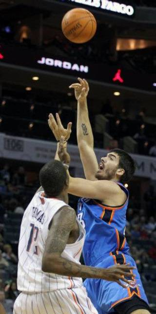 The Oklahoma City Thunder have recalled Byron Mullens from the Tulsa 66ers of the NBA Developmental League. AP PHOTO Bob Leverone