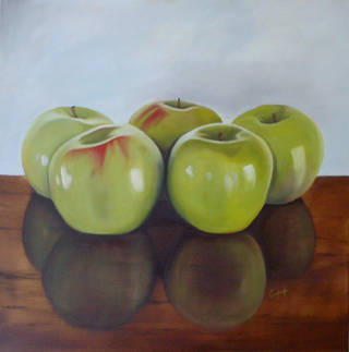 """""""Five Apples,"""" an oil painting by Ted Conley. Photo provided"""