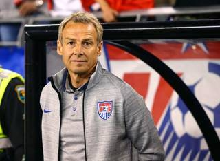 Apr 2, 2014; Glendale, AZ, USA; USA head coach Jurgen Klinsmann prior to the game against Mexico during a friendly match at University of Phoenix Stadium. The game ended in a 2-2 tie. Mandatory Credit: Mark J. Rebilas-USA TODAY Sports