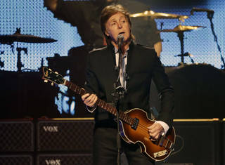 "Paul McCartney, seen here performing during the first U.S. concert of his ""Out There"" Tour on May 18 in Orlando, Fla., will perform at 8 p.m. Thursday at BOK Center, 200 S Denver, in Tulsa. His Wednesday show at the venue is sold out. For information, call (918) 894-4200. AP PHOTO John Raoux"
