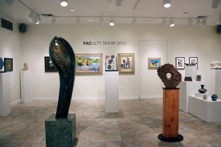 "Works are on display at the Firehouse Art Center's 2012 ""Faculty Art Show."" Photo provided"
