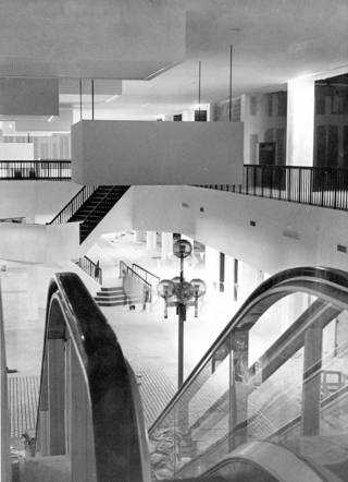 The Century Center Plaza still was unfinished when the adjoining Sheraton hotel opened in 1977. THE OKLAHOMAN ARCHIVE