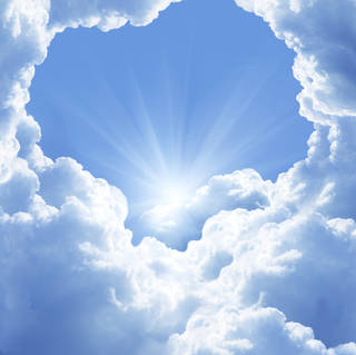 A common belief is that heaven is a cloudy, bright and angel-filled world. (©istockphoto.com/lilkar)