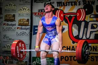 Deer Creek senior Nathan Kimball started competing in powerlifting events in 2013 and is off to a strong start. PHOTO PROVIDED