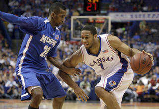 Former Kansas and Putnam City star Xavier Henry could be a lottery pick in Thursday's NBA Draft. AP PHOTO