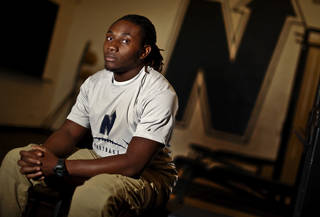 Edmond North running back Lindell Tate will soon have surgery to repair his torn ACL. After suffering the injury, Tate realized he was no longer covered by SoonerCare and had no way to get an MRI or the needed surgery. Photo by Chris Landsberger, The Oklahoman
