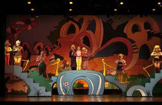 "The cast from ""Seussical"" goes through a dress rehearsal for the Oklahoma Christian University Music and Theater Department's presentation. Photo by Bryan Terry, The Oklahoman BRYAN TERRY - THE OKLAHOMAN"