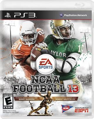 COLLEGE FOOTBALL / NCAA FOOTBALL 13 / PLAYSTATION 3 VIDEO GAME: Former Oklahoma State University (OSU) running back Barry Sanders and former Baylor quarterback Robert Griffin grace the cover. PHOTO COURTESY EA SPORTS ORG XMIT: 1204162232280040