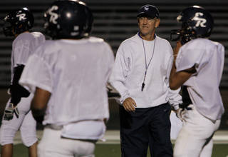 Coach Tom Cobble and El Reno are only returning four starters from last year's team. PHOTO BY CHRIS LANDSBERGER, THE OKLAHOMAN ARCHIVE