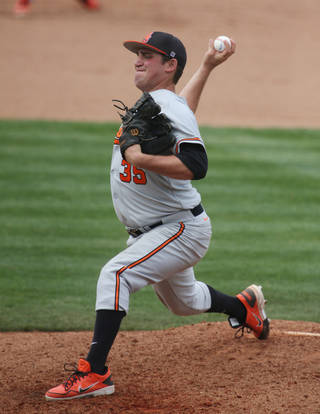 Oklahoma State reliever Vince Wheeland has a 1.17 ERA in 13 appearances, 12 of which have come from the bullpen. AP Photo