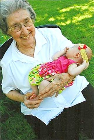 Grace Gragson, who soon will turn 101, pictured with one of her great-granddaughters. PHOTO PROVIDED PROVIDED
