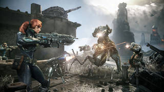 """This undated publicity photo released by Epic Games/Microsoft shows a scene from the video game, """"Gears of War: Judgment."""" AP Photo"""