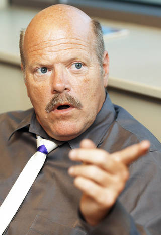 "Rex Linn gives an interview before ""An Evening with Actor Rex Linn"" at the Oklahoma History Center, Tuesday, Sept. 25, 2012. Photo by Nate Billings, The Oklahoman"
