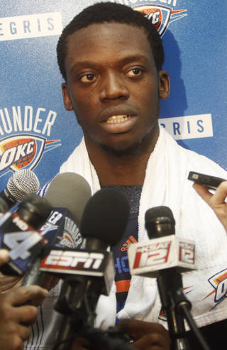 The Thunder can now negotiate a contract extension with Reggie Jackson, its top reserve and backup point guard. Photo by KT King, The Oklahoman